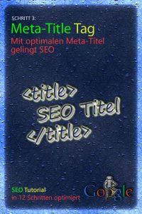 SEO für Anfänger - Schritt 3: Basic SEO- Meta-Title