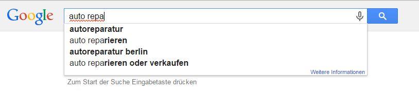 so wird bei Google gesucht