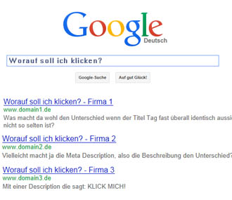 Meta Description Tag für Google optimieren
