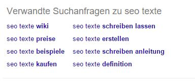 Related Suchanfragen zu SEO Text