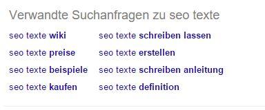 Related Suchanfragen zu SEO Text