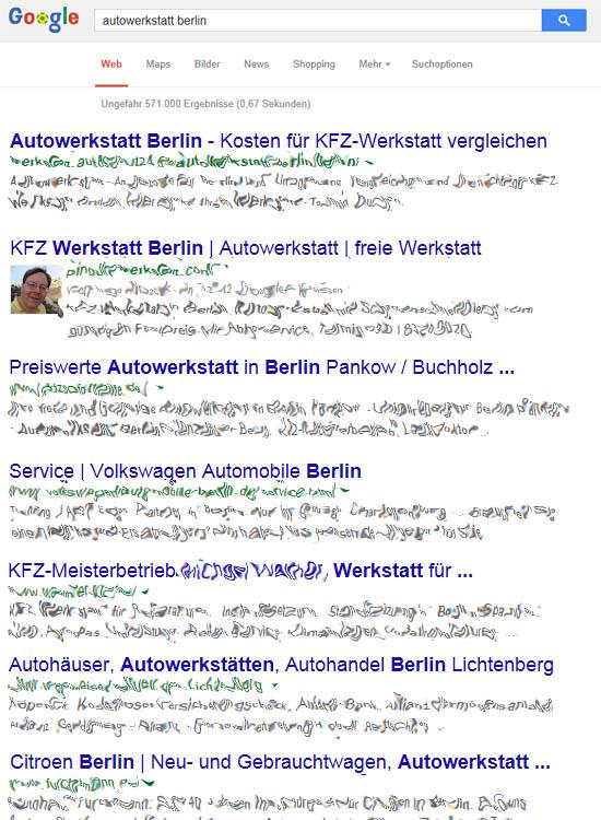 Beispiel Tite Tags in Suchergebnissen