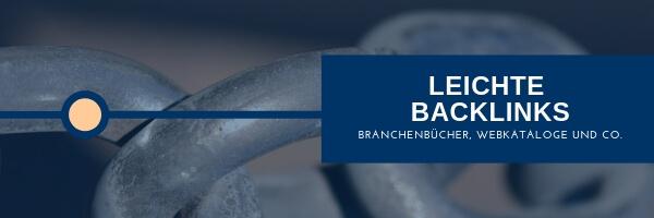Webkataloge, Branchenbücher, Backlinks