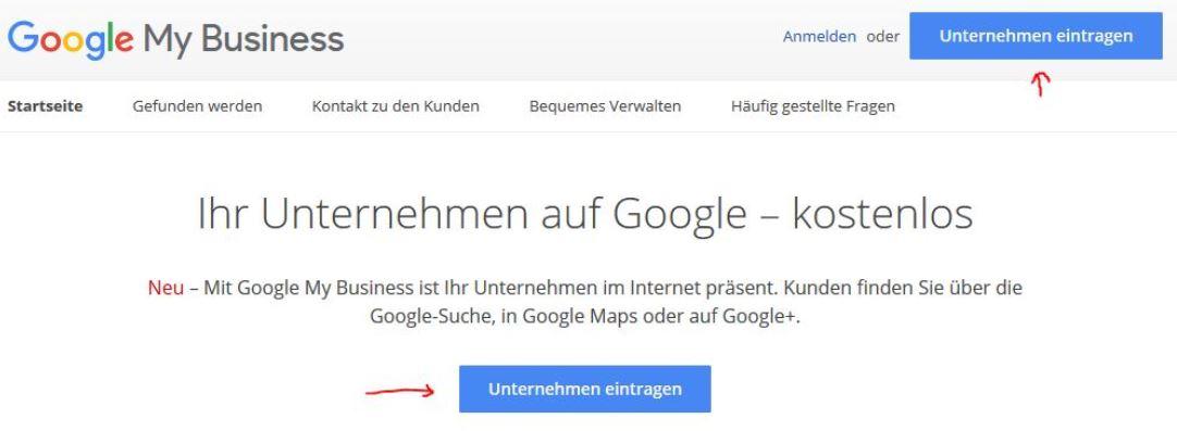 Firma bei Google Maps Eintragen (My Business Eintrag)