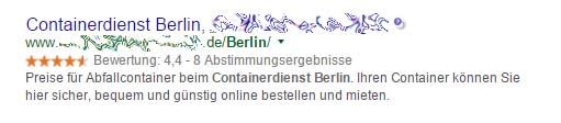 Keyworddichte - Berlin Beispiel