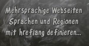 Mehrsprachige Websites - SEO mit hreflang