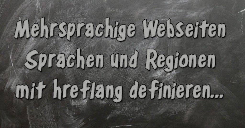 Mehrsprachige Webseiten - SEO mit hreflang