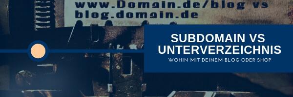Subdomain vs. Unterverzeichnis SEO