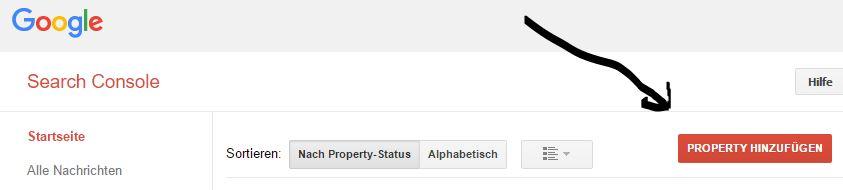 Website bei Google anmelden mit Search Console