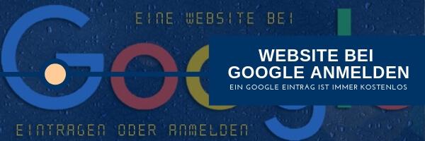 Website bei Google anmelden / eintragen