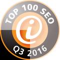 intenSEO ist unter den Top 100 SEO Dienstleistern Deutschlands im 3ten Quartal 2016