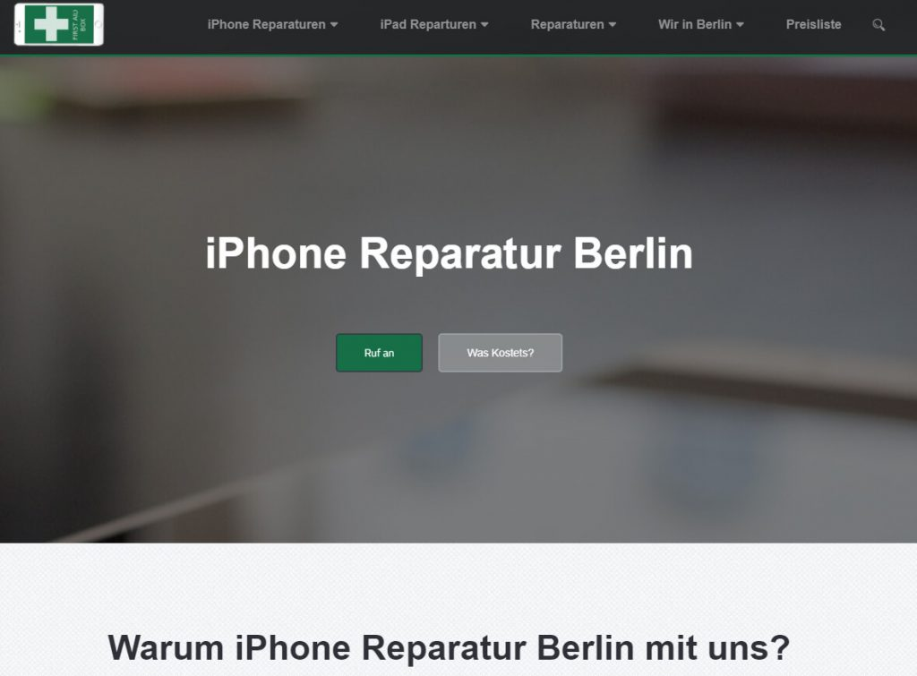 intenSEO Referenz: iPhoneReparaturService