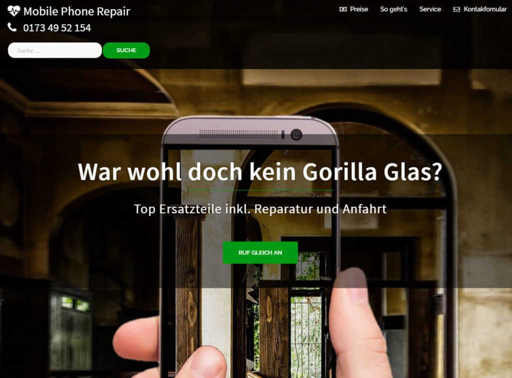 intenSEO Referenz: MobilePhoneRepair