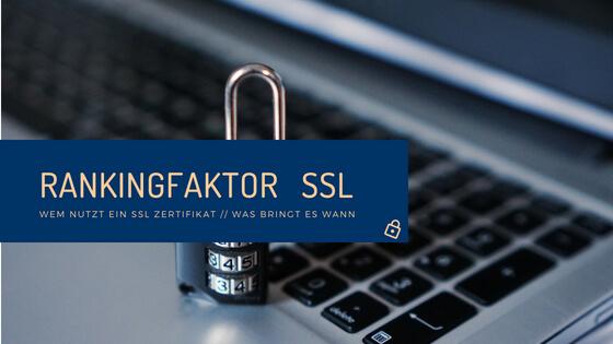 rankingfaktor SSL Zertifikat - Studie
