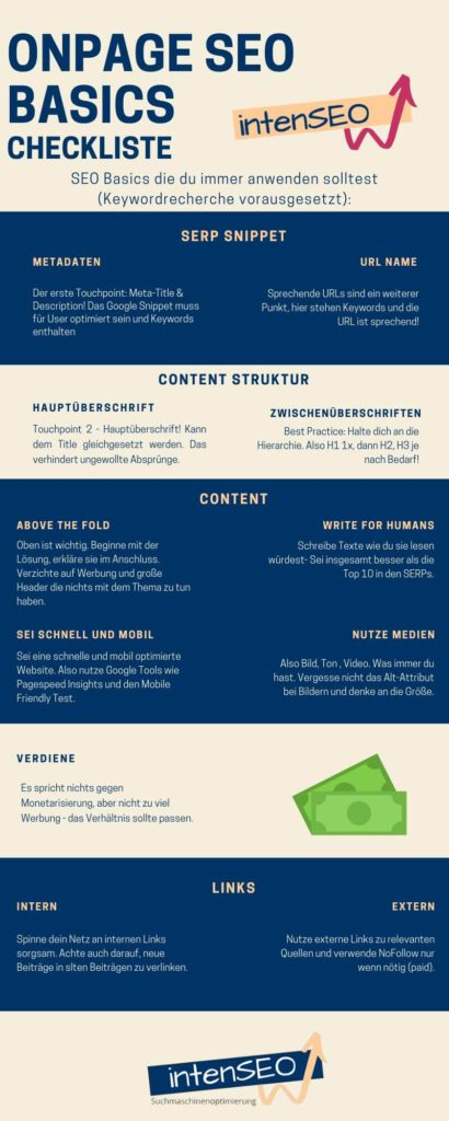 OnPage-Checkliste zum Download (infografik)