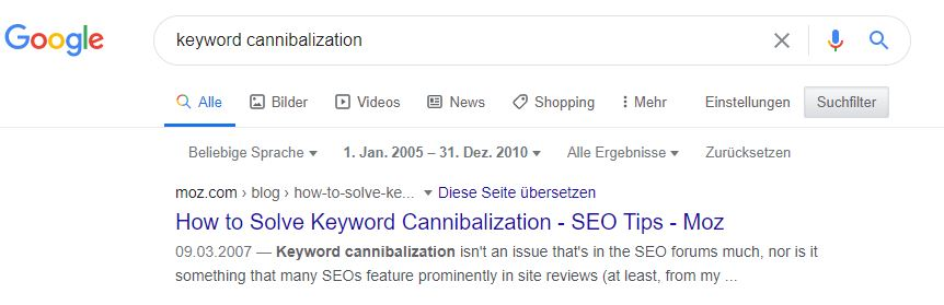 Keyword Cannibalization named by Rand